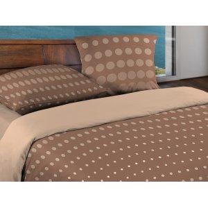 Двуспальный комплект постельного белья Dot Brown