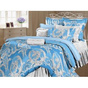 Двуспальный-евро комплект постельного белья Визави лазурь наволочки 50х70