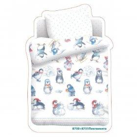 Детский комплект постельного белья Маленькие пингвинята