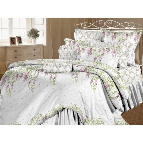 Семейный комплект постельного белья Глициния