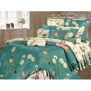 Семейный комплект постельного белья Жустин