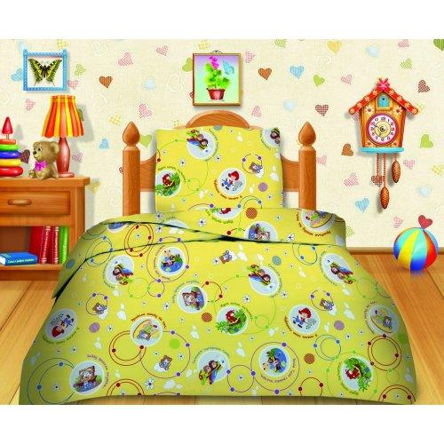 Полуторный детский комплект постельного белья Кошки-мышки Любимые стихи