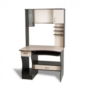 Угловые компьютерные столы с полками и ящиками  для школьника
