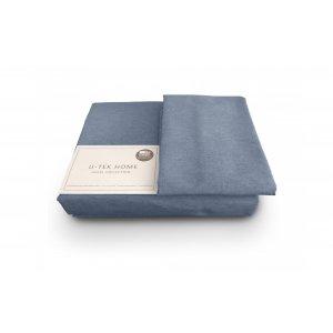 Комплект наволочка 50x70 2 шт и простынь натяжная Cotton Melange Blue 30 150x190