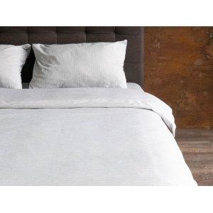 Комплект наволочка 50x70 и простынь натяжная Cotton Stripe Grey 80x190
