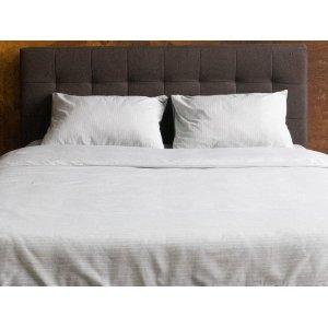Комплект наволочка 50x70 2 шт и простынь натяжная Cotton Stripe Grey 200x220