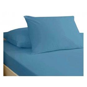 Простынь натяжная Jersey Blue 80x190