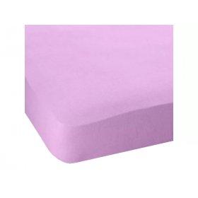 Простынь натяжная Jersey havlu Lilac 80x190