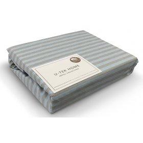 Пододеяльник Hotel Collection Stripe Blue-Grey 30 160x220 серо-голубая полоска
