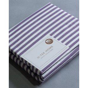 Комплект наволочки 50x70 2 шт  и простынь натяжная Cotton Stripe Plum 30 160x190