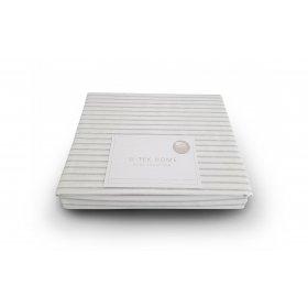 Простынь натяжная Cotton Stripe Grey 10 90х190