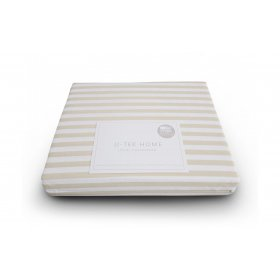Простынь натяжная Cotton Stripe Orange 30 90х190