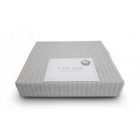 Постельный комплект Hotel Collection Cotton Stripe Grey-White полуторный евро