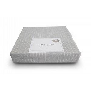 Постельный комплект U-TEK Hotel Collection Cotton Stripe Grey-White полуторный