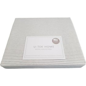 Постельный комплект Hotel Collection Cotton Stripe Grey 10 полуторный евро