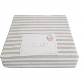 Постельный комплект Hotel Collection Cotton Stripe Grey 30 полуторный евро