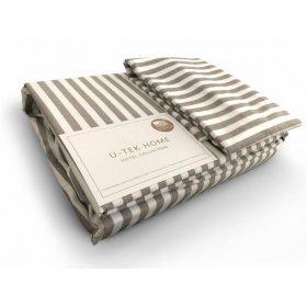 Постельный комплект Hotel Collection Cotton Stripe Cacao 30 полуторный евро