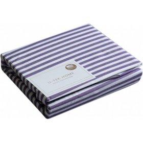 Постельный комплект Hotel Collection Cotton Stripe Plum 30 полуторный евро