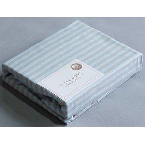 Наволочка 50x70 и простынь натяжная Cotton Stripe Blue-Grey 30 90x190