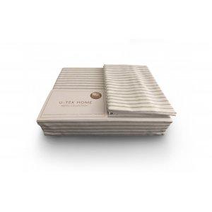 Комплект наволочка 50x70 2шт  и простынь натяжная Cotton Stripe Grey 20 200х200