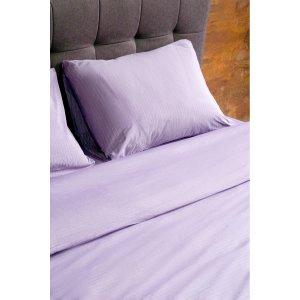 Пододеяльник Hotel Collection Cotton Stripe Plum-white 160x220