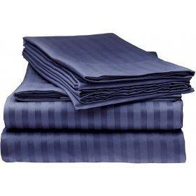 Постельный комплект Home Violet Night Stripe полуторный
