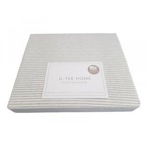 Пододеяльник Hotel Collection Cotton Stripe Grey 20 175x210 серая полоска