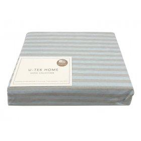 Простынь натяжная Cotton Stripe Blue-Grey 30 120x190 серая полоска