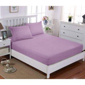 Простынь натяжная U-tek Home Sateen Lilac 80х190