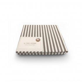 Простынь натяжная Cotton Stripe Cacao 30 180X200