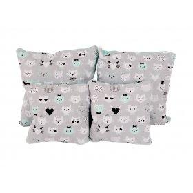 Подушка хлопок Коты 25х40