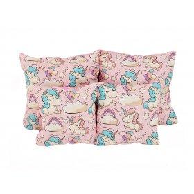 Подушка хлопок Единороги розовые 25х40