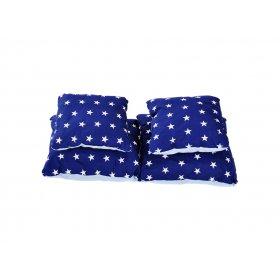 Подушка хлопок Звезды на синем 25х40