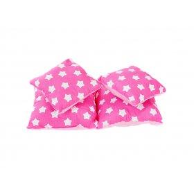 Подушка хлопок Звезды на розовом 25х40
