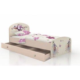 Детская кровать Бабочки с ящиками 120х190