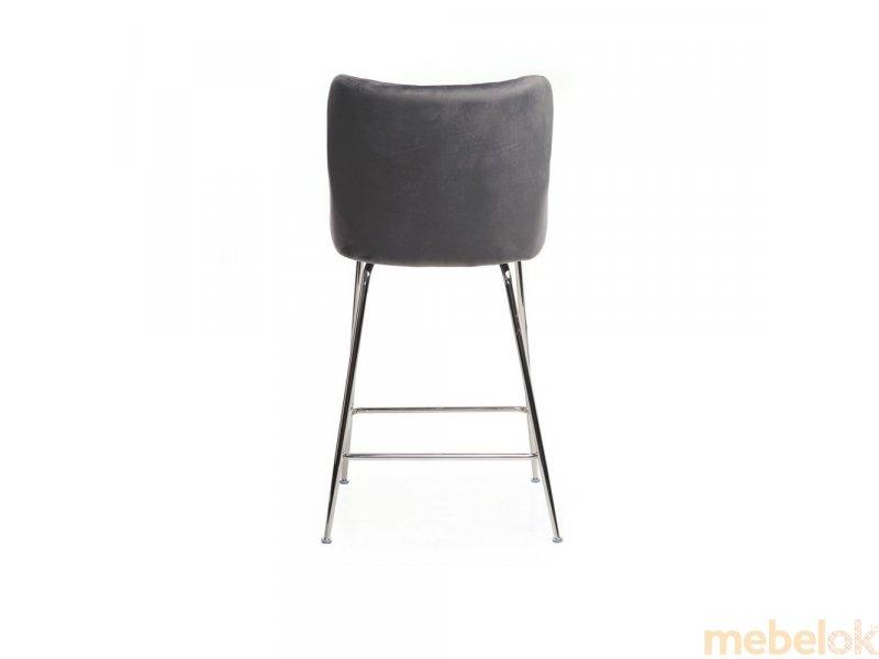 стул с видом в обстановке (Стул B-120-1 серый)