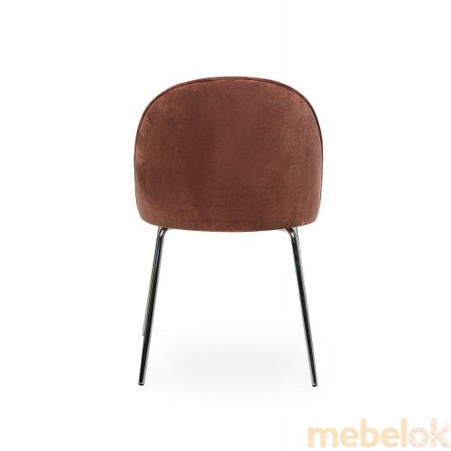 стул с видом в обстановке (Стул M-12-1 роза антик)