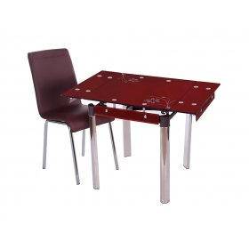 Комплект стол T-255 спелая вишня + стул N-100 шоколад