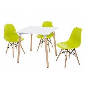 Комплект стол TM-30 + 3 стула EAMS CHAIR M-05 лайм