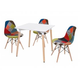 Комплект стол TM-30 + 3 стула M-01 patchwork