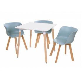 Комплект стол TM-30 + 3 стула M-08 небесно-голубой
