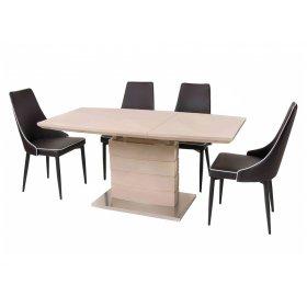 Комплект стол TM-50-1 + 4 стула M-03-1 коричневый
