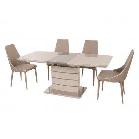 Комплект стол TM-50 капучино + латте + 4 стула M-03-1 кофе мокко