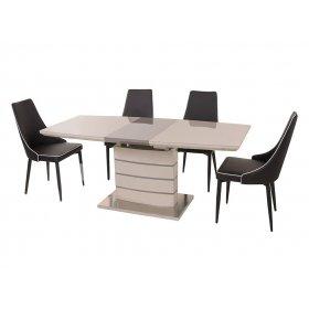 Комплект стол TM-50 капучино + латте + 4 стула M-03-1