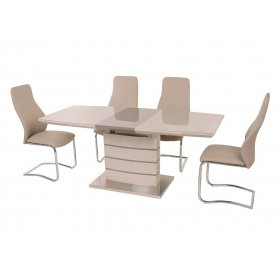 Комплект стол TM-50 капучино + латте + 4 стула S-103