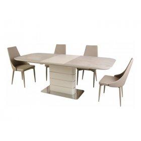 Комплект стол TM-534 кремовый + 4 стула M-03-1 кофе мокко