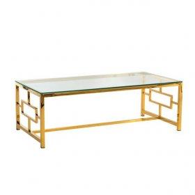 Стол CL-1 прозрачный+золото