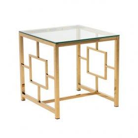 Стол CL-2 прозрачный + золото