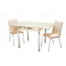 Комплект стол T-222 кремовый + 2 стула N-83 бежевый
