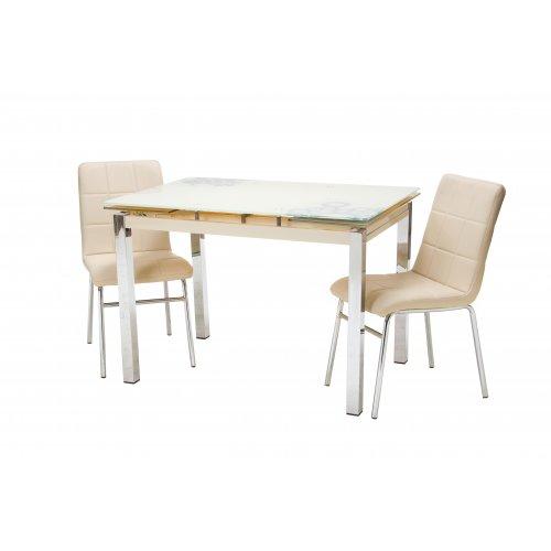 Обеденный стол Т-231-4 кремовый